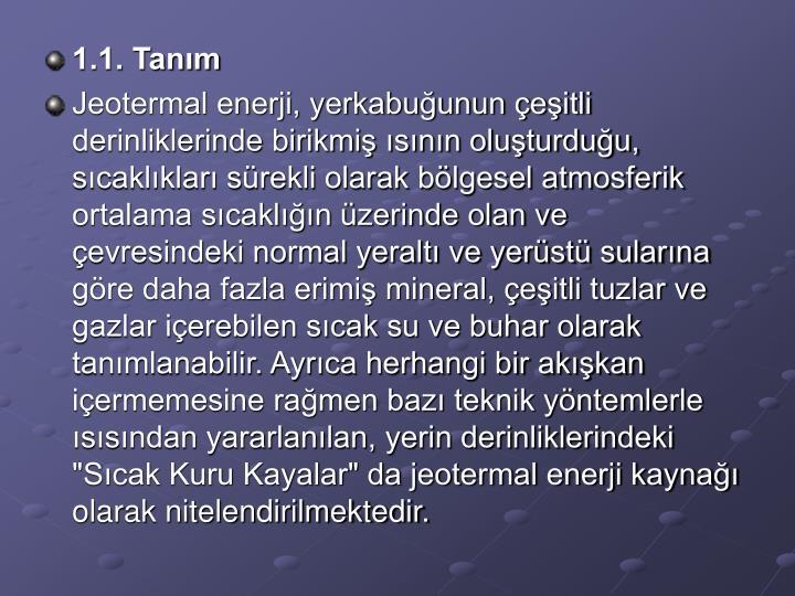 1.1. Tanm