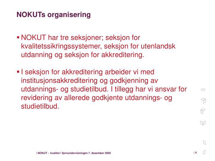 NOKUTs organisering
