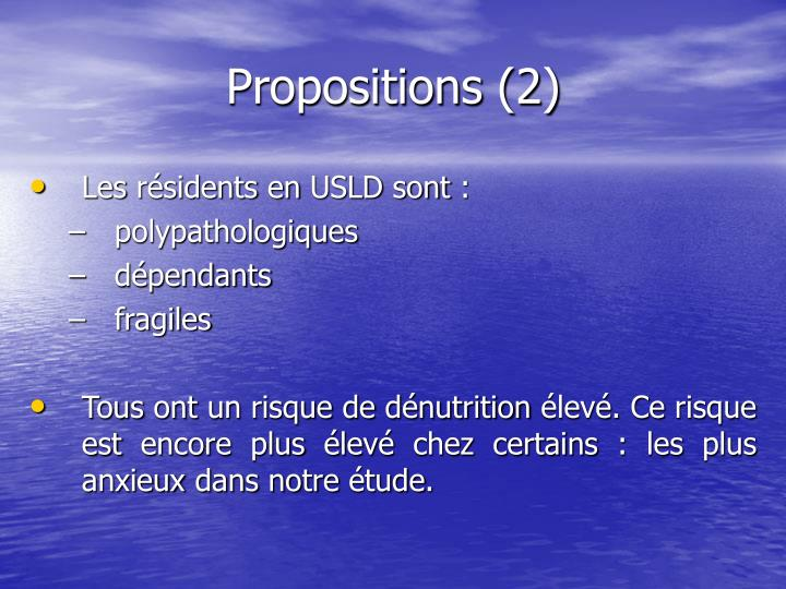 Propositions (2)