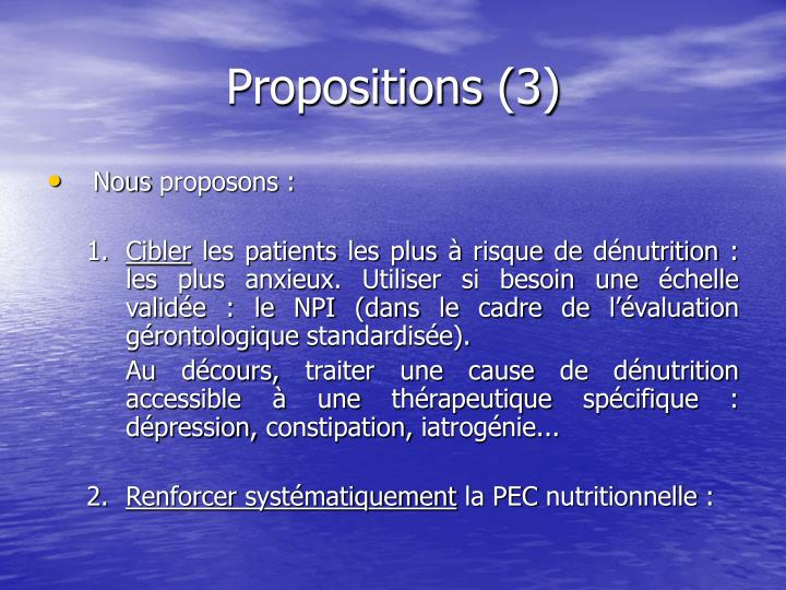 Propositions (3)