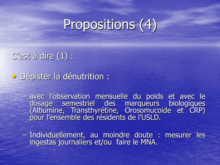Propositions (4)