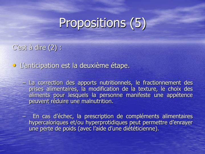 Propositions (5)