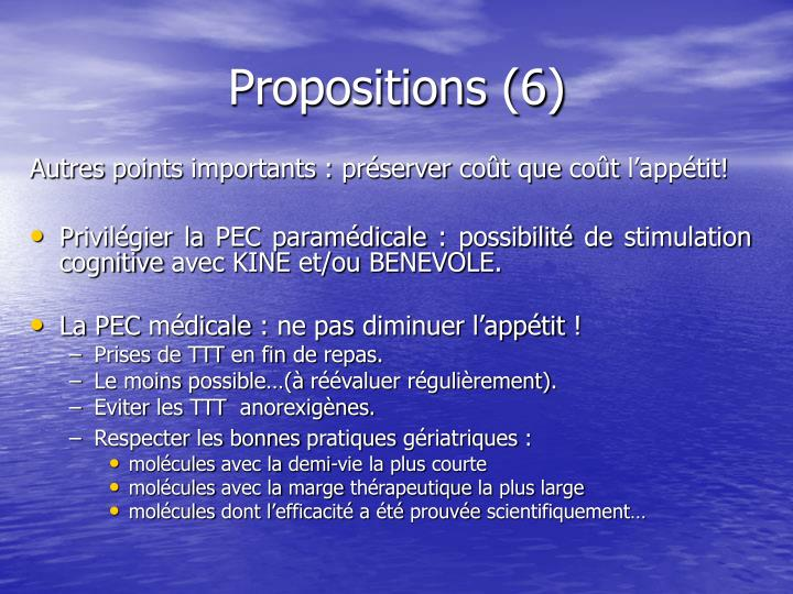 Propositions (6)