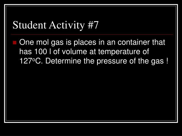 Student Activity #7