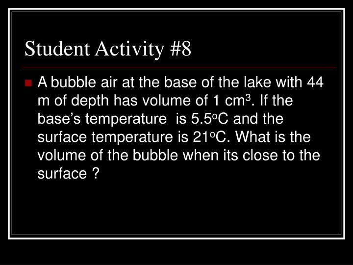 Student Activity #8