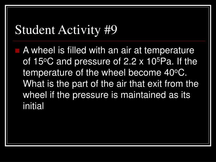 Student Activity #9