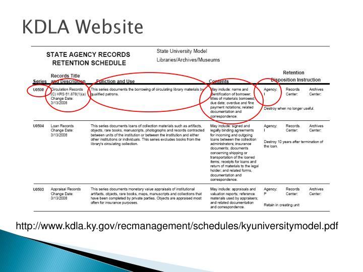 KDLA Website