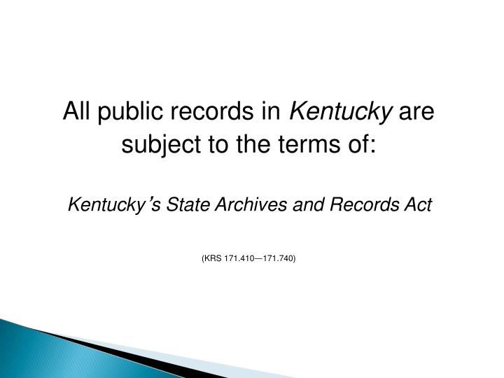 All public records in