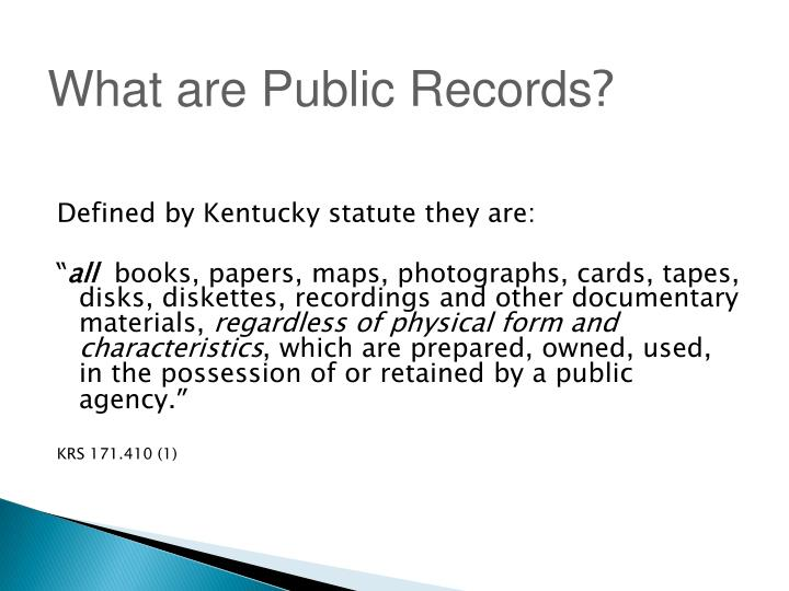What are Public Records