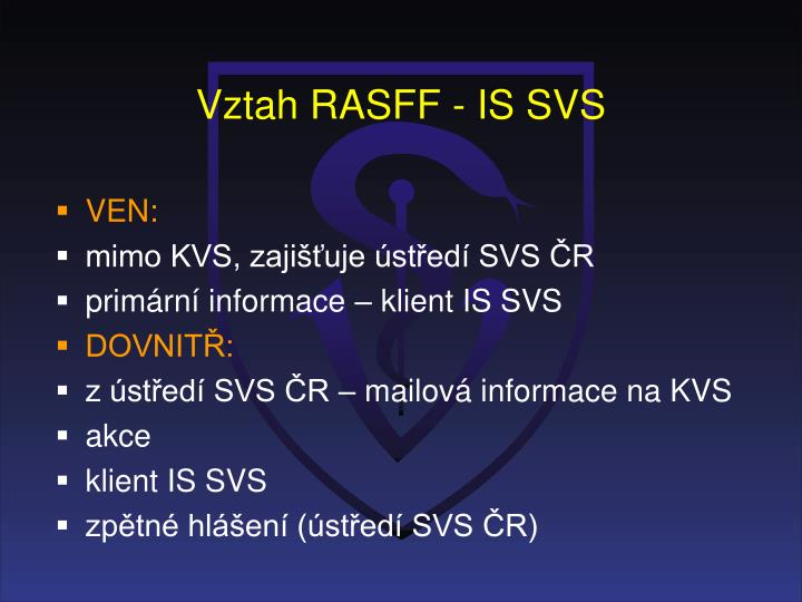 Vztah RASFF - IS SVS