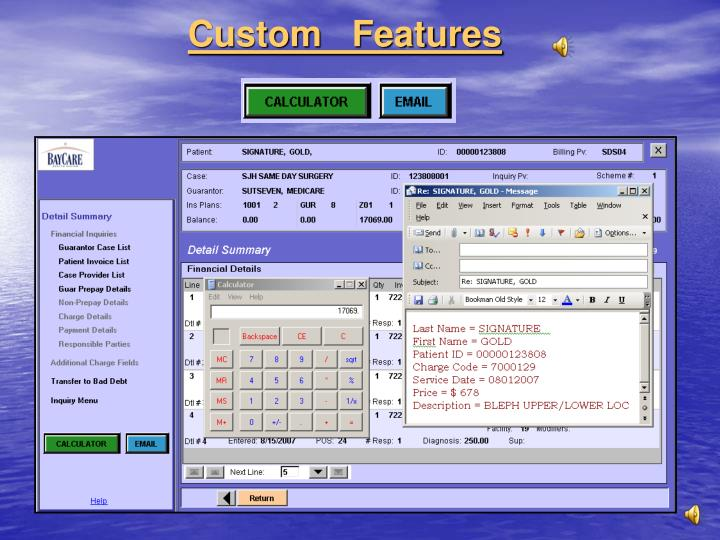 Custom   Features