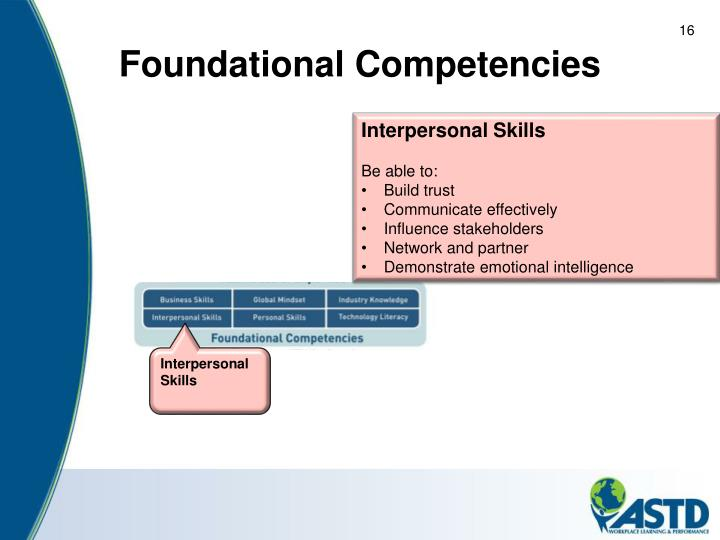 Foundational Competencies