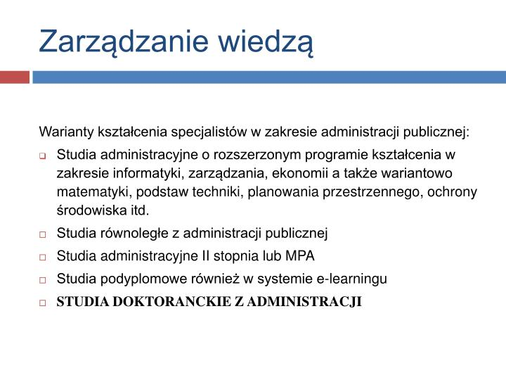 Zarządzanie wiedzą