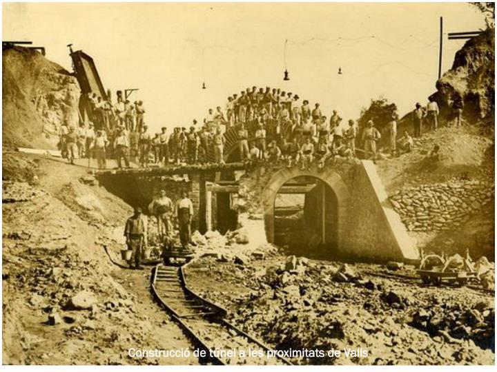 Construcció de túnel a les proximitats de Valls