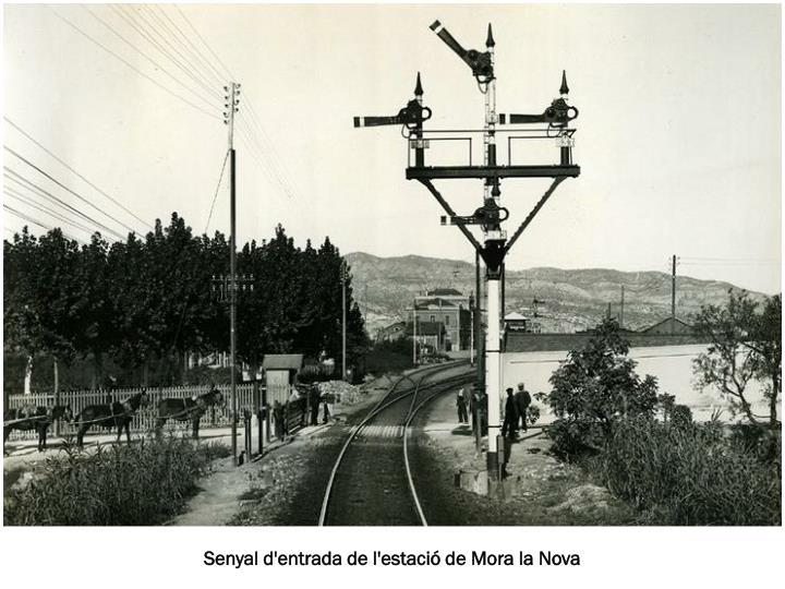 Senyal d'entrada de l'estació de Mora la Nova