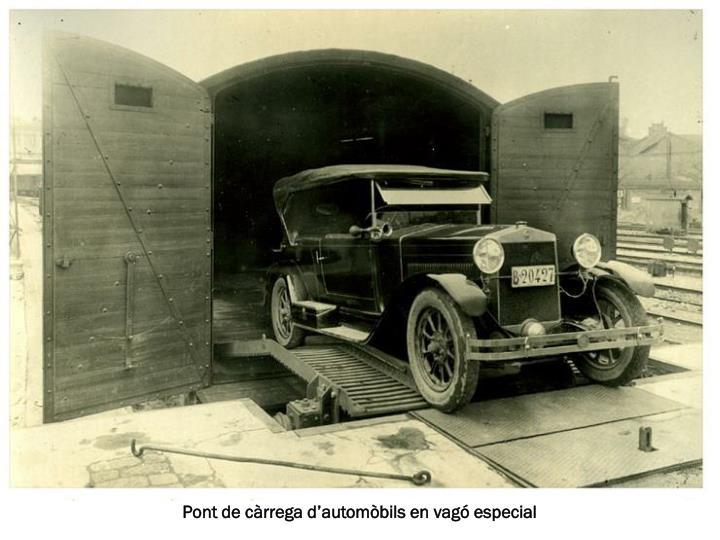 Pont de càrrega d'automòbils en vagó especial