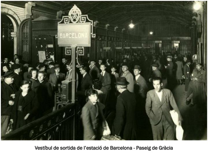 Vestíbul de sortida de l'estació de Barcelona - Paseig de Gràcia