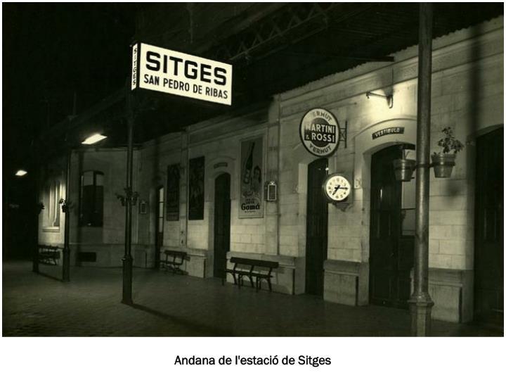 Andana de l'estació de Sitges