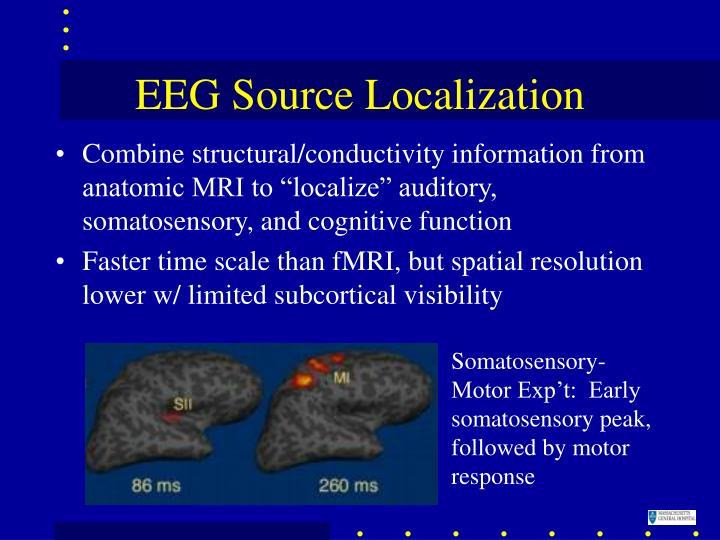 Somatosensory-Motor Exp't:  Early somatosensory peak, followed by motor response
