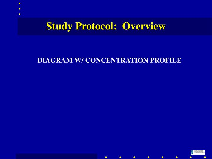 Study Protocol:  Overview