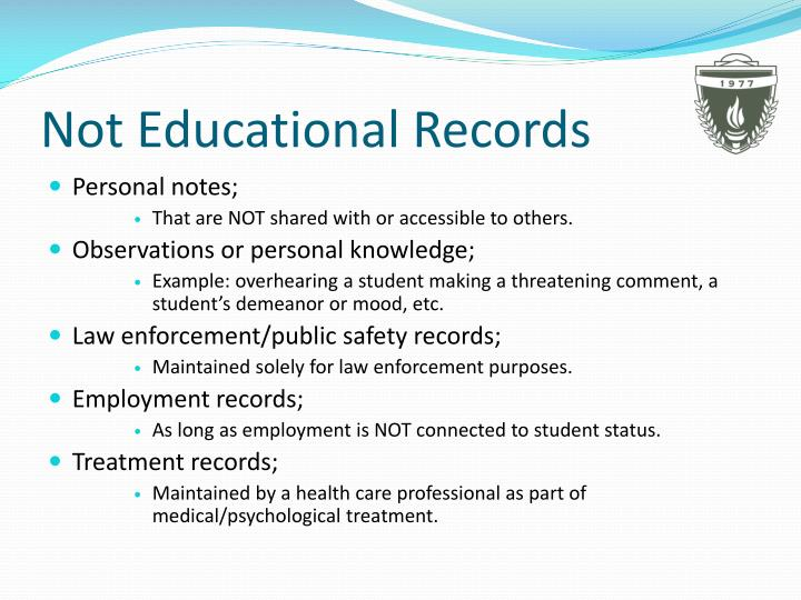 Not Educational Records