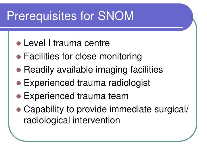 Prerequisites for SNOM