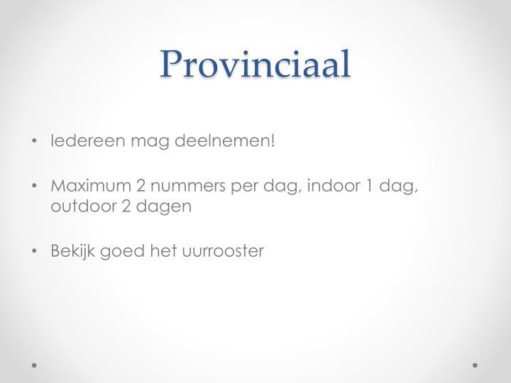 Provinciaal