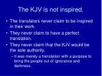 the kjv is not inspired1