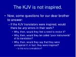 the kjv is not inspired10