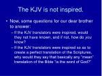 the kjv is not inspired9