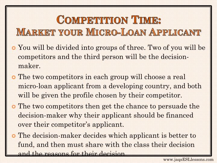 Competition Time: