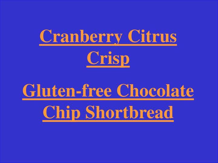 Cranberry Citrus Crisp