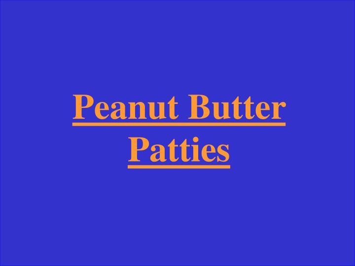 Peanut Butter Patties