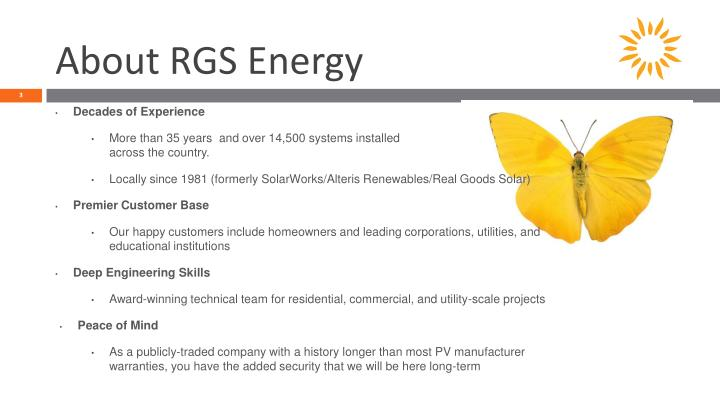 About RGS Energy