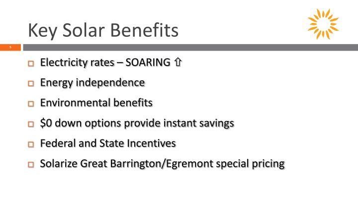 Key Solar Benefits