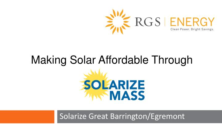 Solarize great barrington egremont