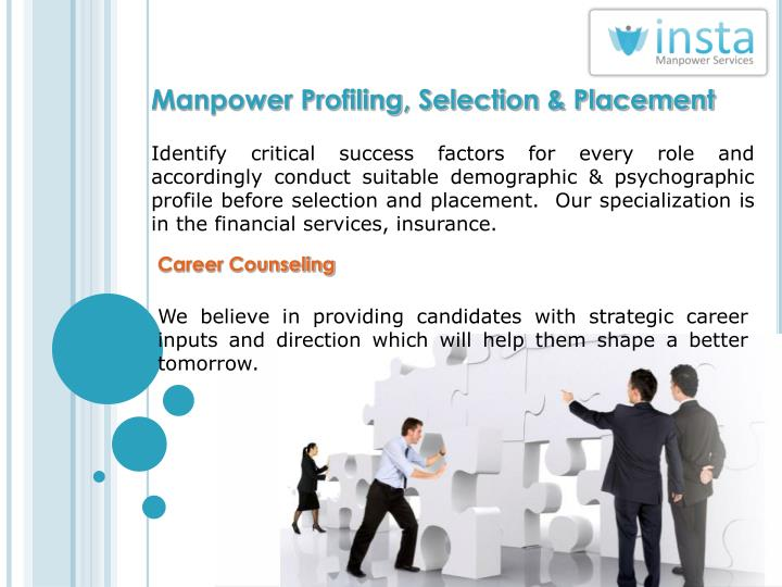 Manpower Profiling, Selection & Placement