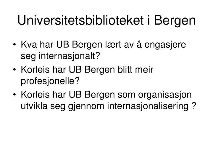 Universitetsbiblioteket i Bergen