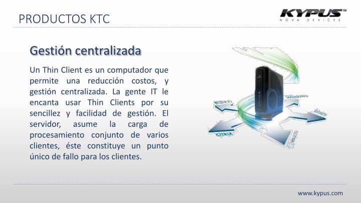 PRODUCTOS KTC