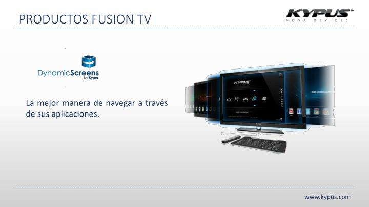 PRODUCTOS FUSION TV