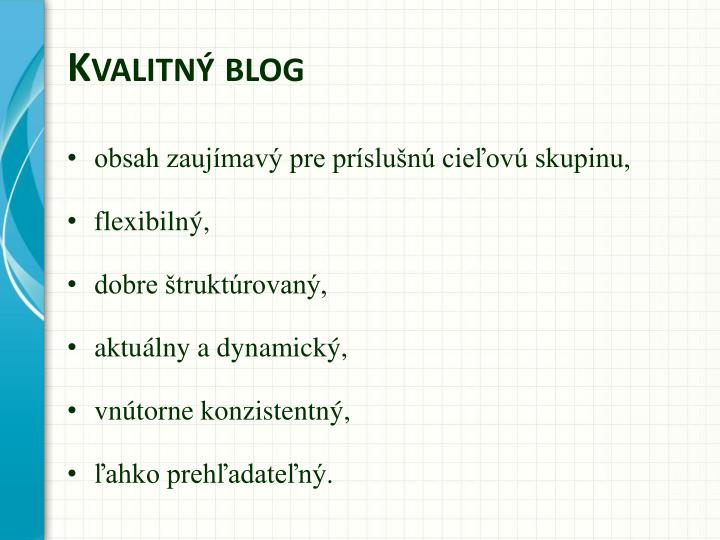 Kvalitný blog