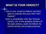 what is your verdict