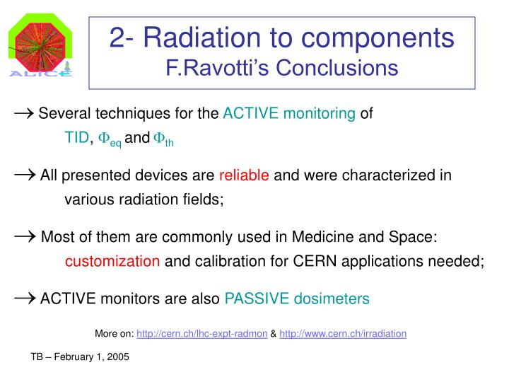 2- Radiation to components