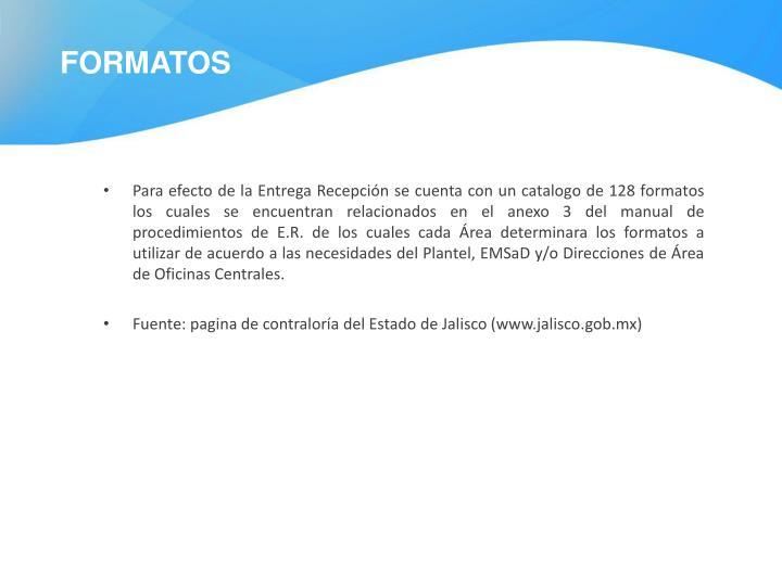Formatos PER.
