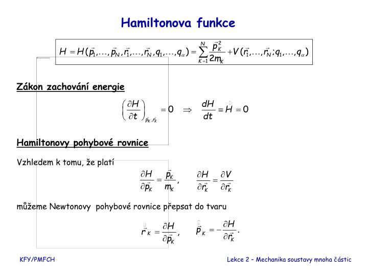 Hamiltonova funkce