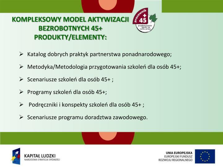 KOMPLEKSOWY MODEL AKTYWIZACJI BEZROBOTNYCH 45+