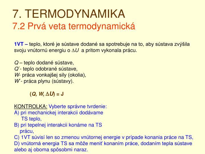 7. TERMODYNAMIKA