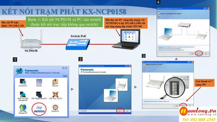 KẾT NỐI TRẠM PHÁT KX-NCP0158
