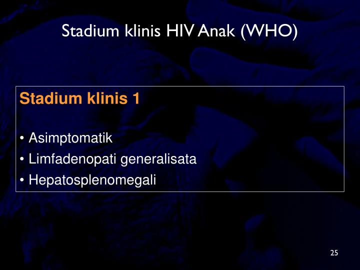 Stadium klinis HIV Anak (WHO)