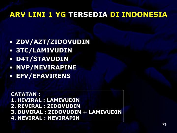 ARV LINI 1 YG